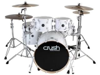 CRUSH Chameleon Birch 5-Piece Kit – White, STEVAN MICHEO MUSIC Puerto Rico