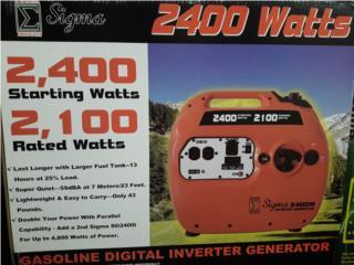 Inverter Sigma 2400W/2100w . Diseñado en USA , www.generadoressigma.com Puerto Rico