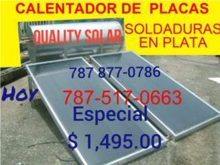 Calentador Solar Calidad garantizada., Quality Solar System 787-517-0663  Puerto Rico