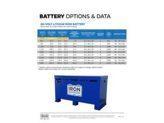 Lithium  battery 48 vol.  19.6k hasta 291.2k , FIRST TECH SOLAR Puerto Rico