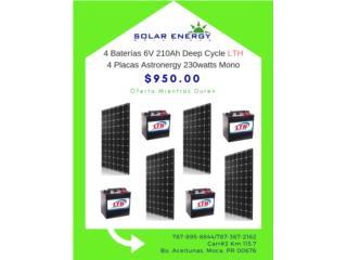 Combo de Baterías y Placas, Solar Energy Solutions LLC Puerto Rico