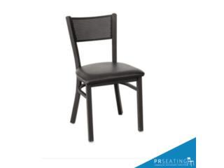 Silla punto de metal color negro, PR SEATING Puerto Rico