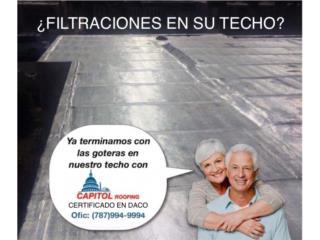¿SE FILTRA TODAVÍA SU TECHO?, CAPITOL Roofing Puerto Rico
