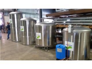 Cisternas de 450, 600, 780 y 1200 gal SS 304, ECO SOLAR PRODUCTS 787-597-2094 Puerto Rico