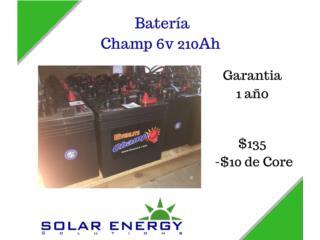 Champ 6v 210Ah, Solar Energy Solutions LLC Puerto Rico