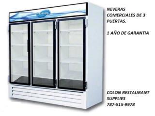 NEVERAS Y CONGELADORES COMERCIALES (NUEVOS), Colón Restaurant Supplies Puerto Rico