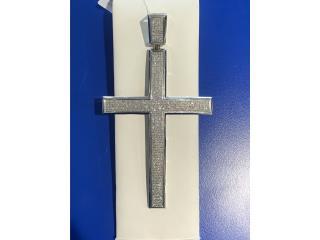 Crucifijo oro 10k blanco y diamantes, La Familia Casa de Empeño y Joyería-Ave Piñeiro Puerto Rico