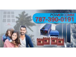 Equipo Solar para Back Up residencial, PowerComm, Inc 7873900191 Puerto Rico
