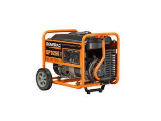 PLANTA ELECTRICA GENERAC 3,750/3250 RUNNING/W, Mf motor import Puerto Rico