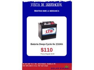 Batería LTH o Champ Deep-Cycle 6v 210Ah, Solar Energy Solutions LLC Puerto Rico