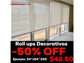 Roll ups decorativo a MITAD de precio! , READY SHADES Puerto Rico