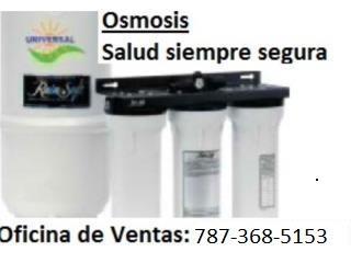 PURIFICADOR DE AGUA OSMOSIS, UNIVERSAL SOLAR, UNIVERSAL FREE HOT WATER Puerto Rico