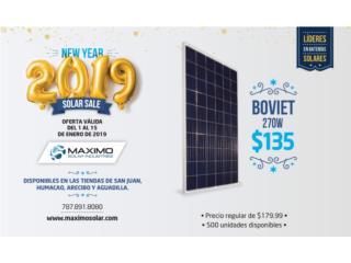 Panel solar Boviet 270W, MAXIMO SOLAR INDUSTRIES Puerto Rico
