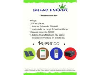 Sistema Solar con Batería Lithium, Solar Energy Solutions LLC Puerto Rico