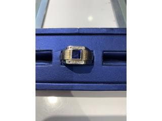 Sortija 14k caballero diamante piedra azul , La Familia Casa de Empeño y Joyería-Humacao Puerto Rico