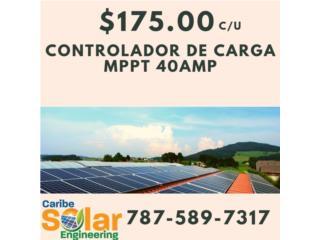 Controlador de Carga MPPT 40amps, Caribe Solar Engineering Puerto Rico