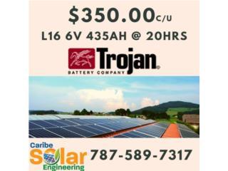 Trojan L16 6v 435ah@20hrs, Caribe Solar Engineering Puerto Rico