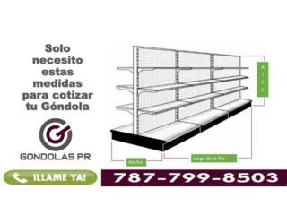 Gondolas Usadas en Excelentes Condiciones, Gondolas PR Puerto Rico