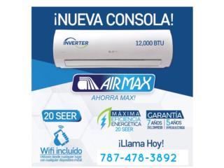 Airmax 12,000 Seer 20 desde $540.00 con Wifi , Speedy Air Conditioning Servic Puerto Rico