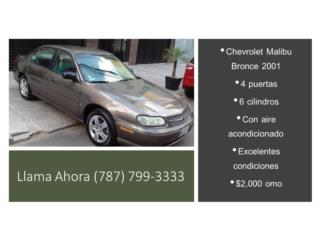 Chevrolet Malibu 2001 excelente estado, Gondolas PR Puerto Rico