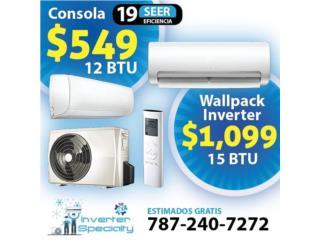 Consolas Inverter 110v 12 BTU 19 seer, Inverter Store & Supplies Puerto Rico