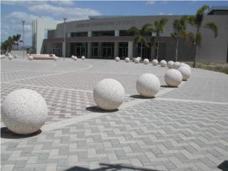 Esferas Bolas Bolardos cemento concreto , 713 Precast LLC Puerto Rico