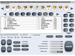 Restaurant Manager POS Software PC o Tablet, SmartBase Puerto Rico
