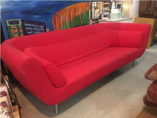 Ligne Roset Red Sofa, The Pickup Place Puerto Rico