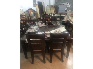 Comedor cuadrado 8 sillas wenge, The Pickup Place Puerto Rico