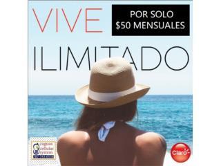 CLARO PR PLAN 50GB DATA 4.5 LTE X $50 AL MES*, CAGUAS CELLULAR SYSTEM Puerto Rico