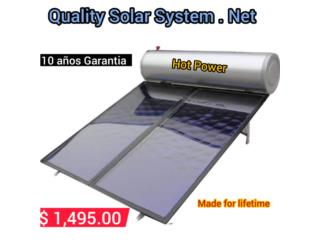 Calentador Solar de dos placas, Quality Solar System 787-517-0663 Puerto Rico