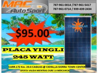 PLACA SOLAR YINGLI 245 WATT, Mf motor import Puerto Rico