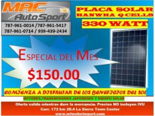 PLACA SOLAR  Q CELL 330 WATT, Mf motor import Puerto Rico