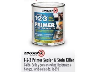 1-2-3 PRIMER SEALER & STAIN KILLER, Ferreteria Ace Berrios Puerto Rico