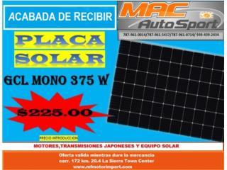 PLACA SOLAR 375 WATT MONO, Mf motor import Puerto Rico