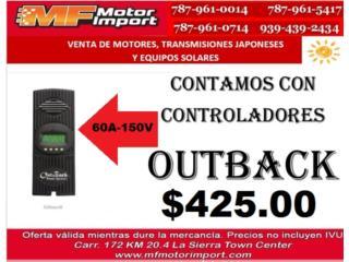 CONTROLADOR OUTBACK DE PLACAS SOLARES 60-150V, Mf motor import Puerto Rico