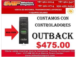 CONTROLADOR DE PLACAS SOLARE  OUTBACK 80-150 , Mf motor import Puerto Rico