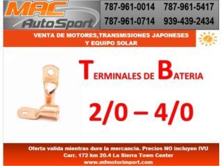 TERMINALES PARA CABLE DE BATERIAS, Mf motor import Puerto Rico