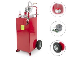 Tanque Combustible 30Gl. con Bomba en Metal, Sigma Distributors PR Puerto Rico