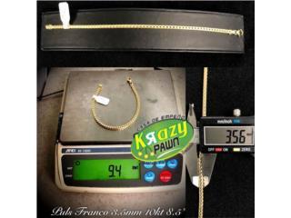 "Pulsera Franco Solida 3.5mm 8.5"" 10kt $500.00, Krazy Pawn Corp Puerto Rico"