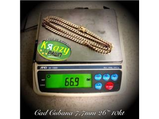 "Cadena Cubana Solida 7.7mm 26"" 10kt $2,735.00, Krazy Pawn Corp Puerto Rico"