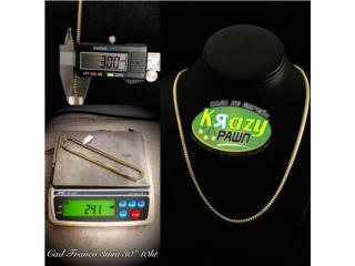 "Cadena Franco Solida 3mm 30"" 10kt $1,155.00, Krazy Pawn Corp Puerto Rico"