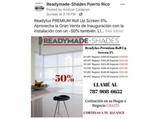 Premium Roll Up Screen 5%, Readymade-Shades Puerto Rico
