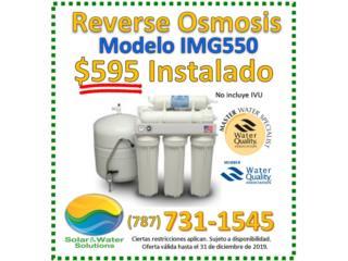 Suplido e Instalación ReverseOsmosis AGUAPURA, INTERCONTINENTAL MARKETING GROUP, INC Puerto Rico