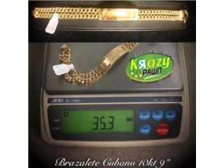 "Brazalete Cubano Doble 9"" 10kt $1,625.00, Krazy Pawn Corp Puerto Rico"