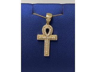 Cruz Egipcia 14k con diamantes, La Familia Casa de Empeño y Joyería-Ave Piñeiro Puerto Rico