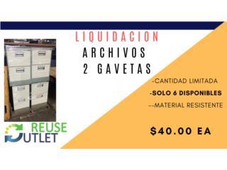 ARCHIVOS 2 GAVETAS, Reuse Outlet Store Puerto Rico