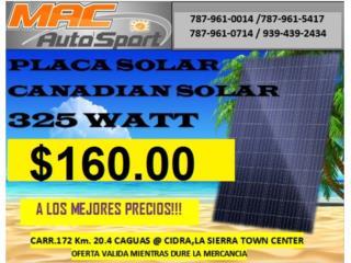 PLACA SOLAR 325WATT, Mf motor import Puerto Rico