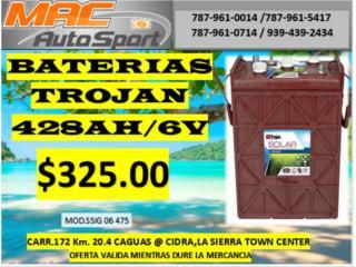 BATERIA TROJAN 428AH/6V/SSIG, Mf motor import Puerto Rico