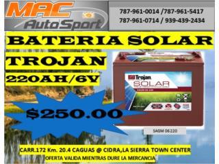 BATERIA SOLARE TROJAN 220AH/06/SAGM, Mf motor import Puerto Rico